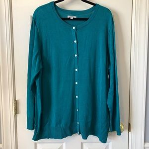 Croft & Barrow Button Front Cardigan 3X